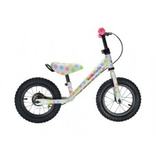 Balance Bike Metal - Pastel Dotty - Kiddimoto  LAST ONE
